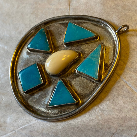 Sterling Pendant with Turquoise