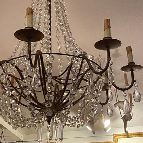 8 Arm Crystal Beaded Chandelier