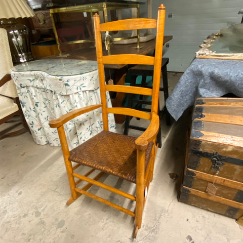 Rocking Chair with Woven Seat