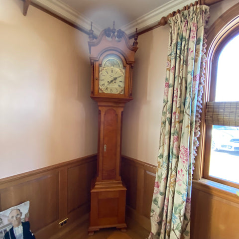 Maple Perkiomen Clock Company Grandfather's Clock with Moon Phase