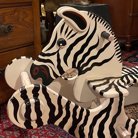 Wooden Toy Rocking Zebra from FAO Schwarz NYC