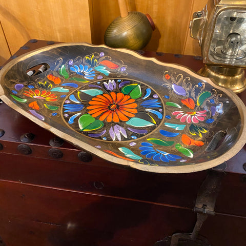 Floral Folk Art Tray