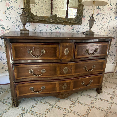 Regency Style Chest of Drawers with Bronze Ormolu, 3 Drawers