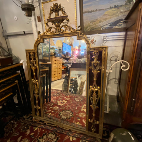 Giltwood and Gesso Venetian Mirror