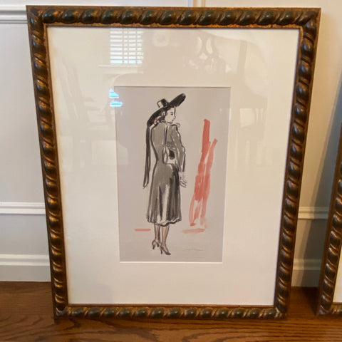 Fashion Watercolor by James Herbert  in Barley Twist Frame