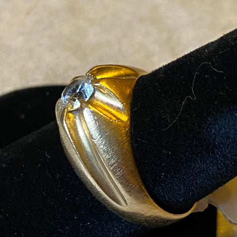 14k White Topaz Ring