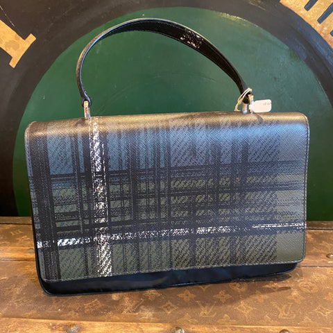 Authentic Prada Black Plaid Handbag