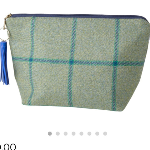 Large Walker Makeup Bag in Links House Tweed