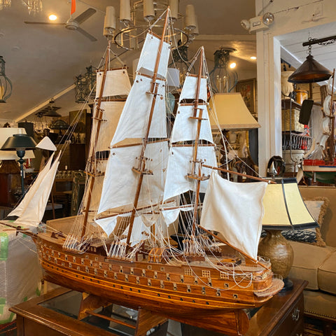 French Man-O-War Ship Model