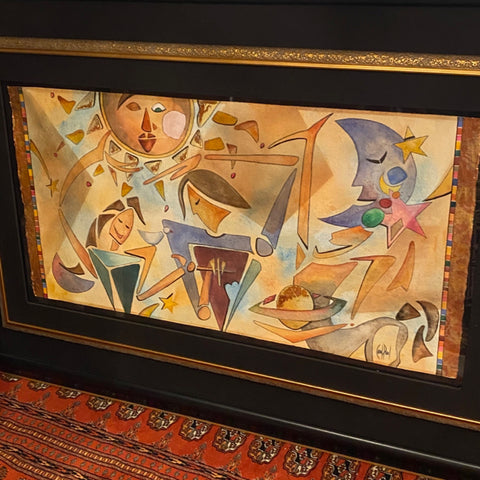 Painting by Signed by Paul in Large Black and Gold frame