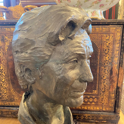 Bronze Bust signed R.S.'85, from Newport Mansion Grande Dame
