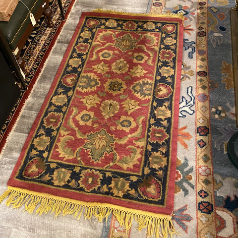 "Black and Red Rug 2'7"" x 4'7"""