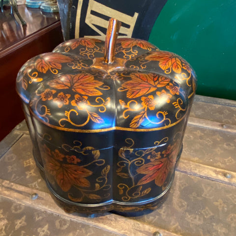 Sarried Ltd Gourd Box, Black and Amber