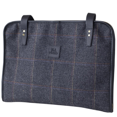 Bradford Folio Bag in Black Isle Tweed