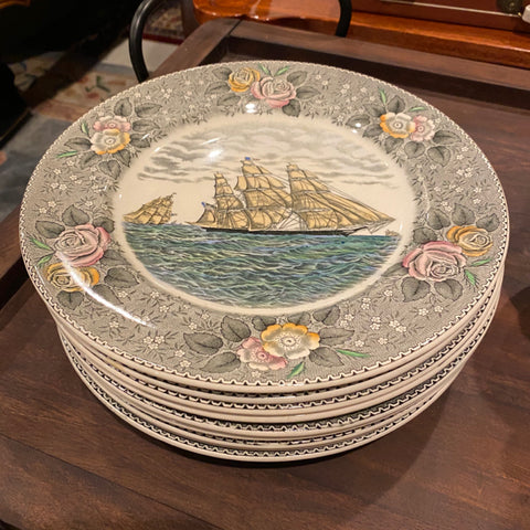 Currier and Ives Plates, Set of 10