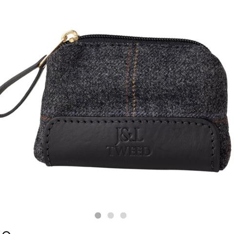Morgan Coin Purse in Black Isle Tweed
