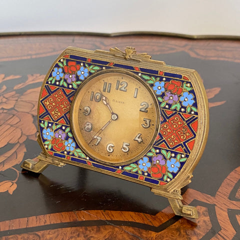 Cloisonne Small Clock as is