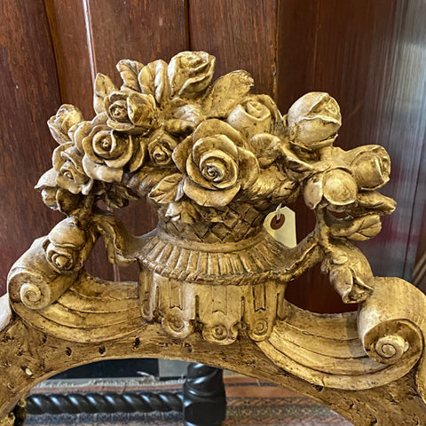 Floral Basket Scroll Motif Mirror