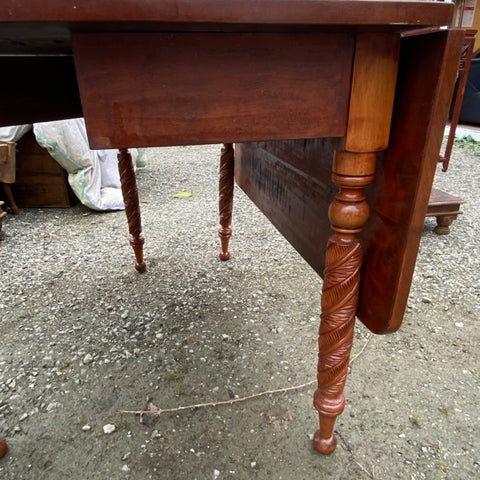 Carved Leg Gate Leg Drop Leaf Table