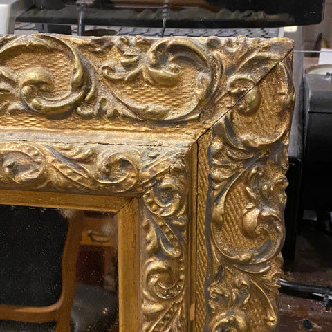 Carved Gilt Framed Bevelled Mirror