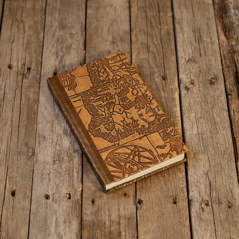 Old Map Printed Hardcover Notebook