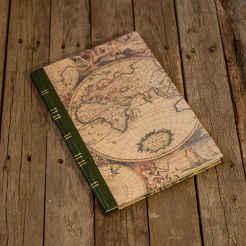 Map Print Hardcover Notebook