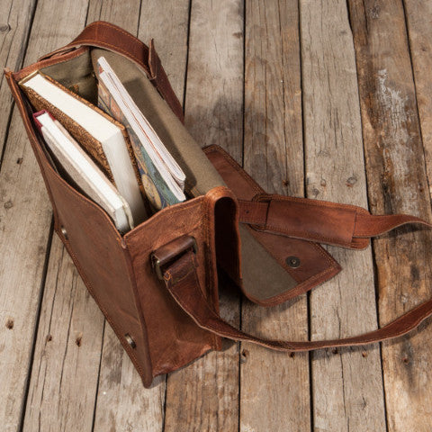 Messenger Leather Satchel