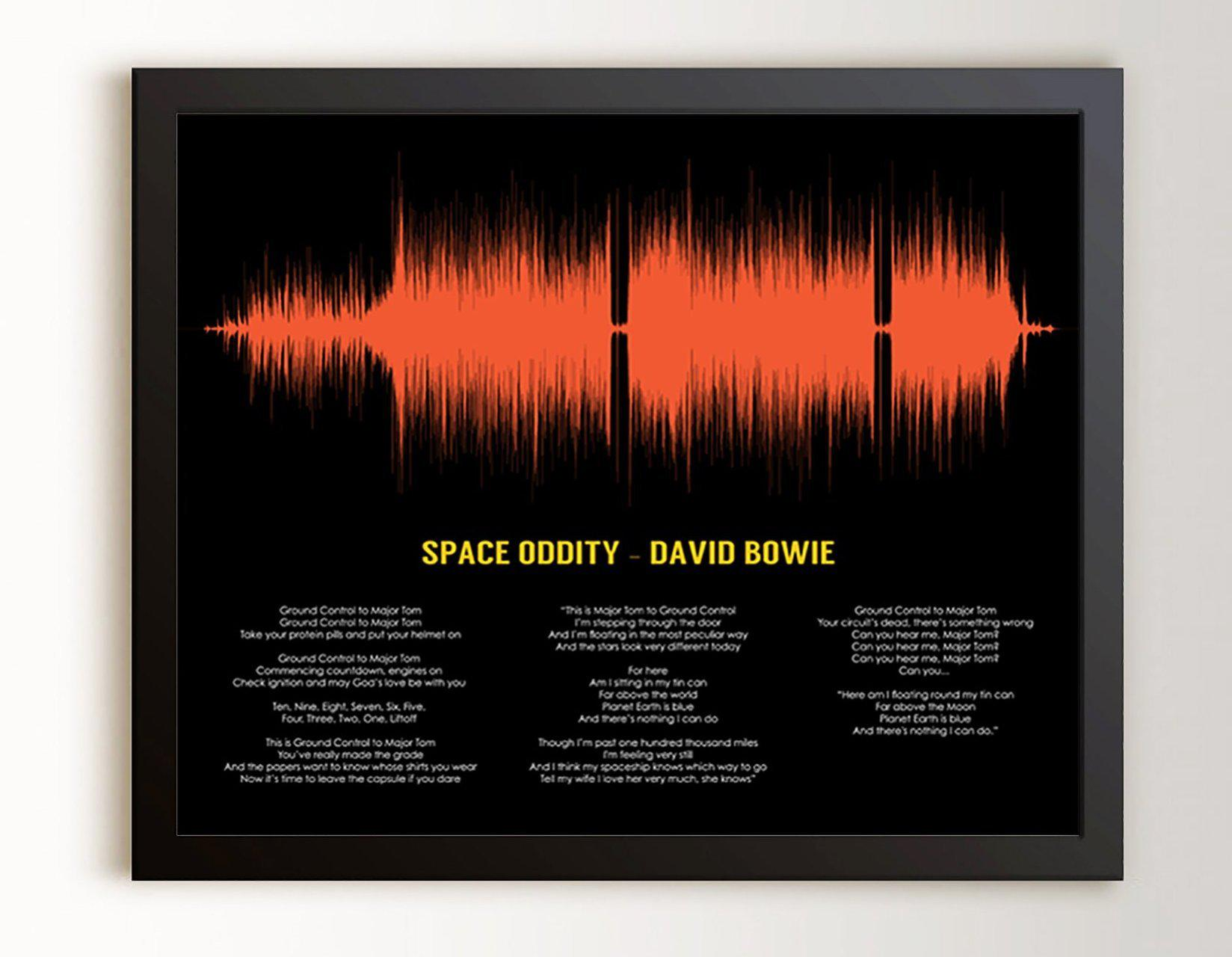 Song Lyric Art, Music Room Art, Gift for Musicians - Artsy Voiceprint