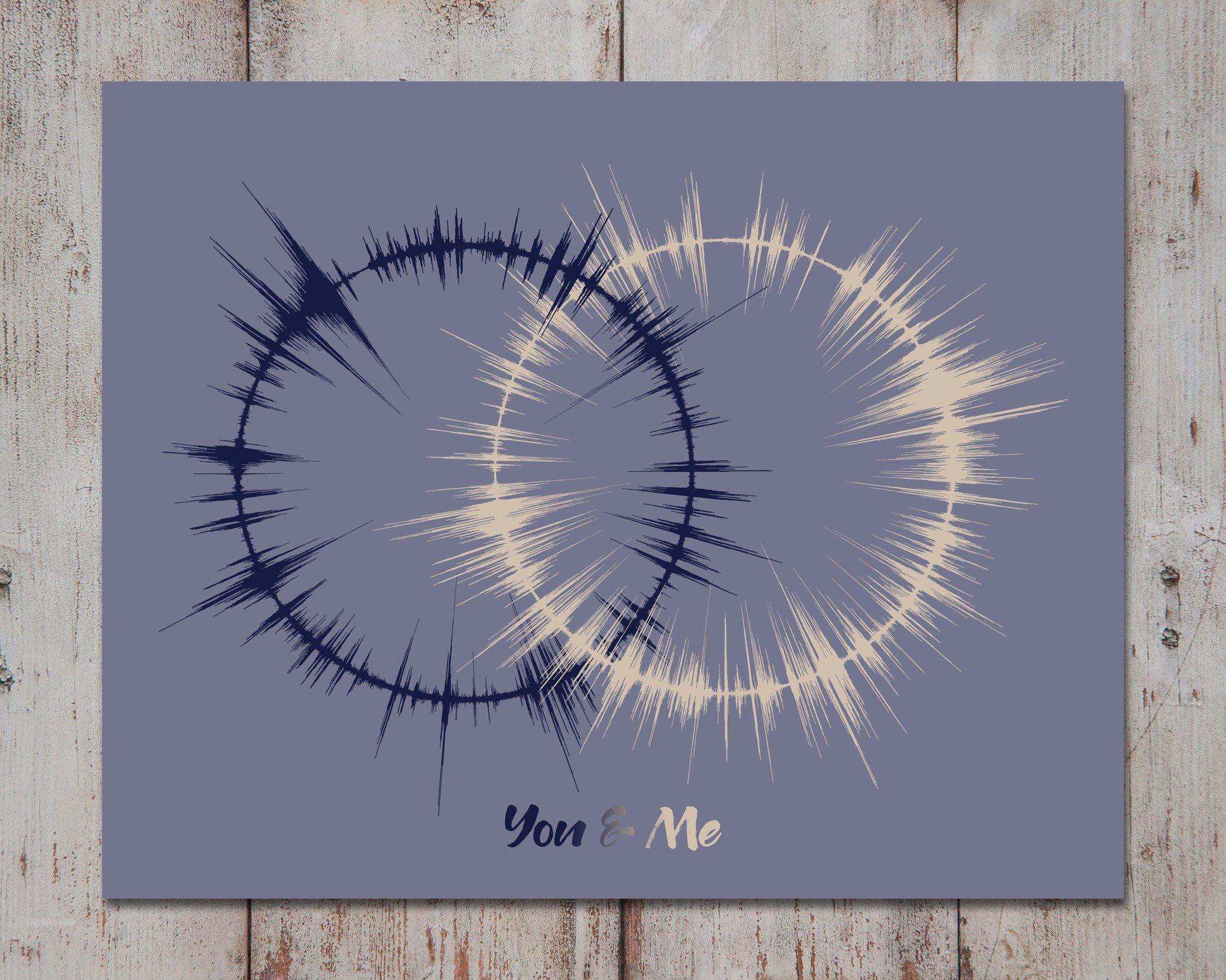 Interlocking Rings, Wedding Vows Art Print, 1st Paper Anniversary Gift - Artsy Voiceprint