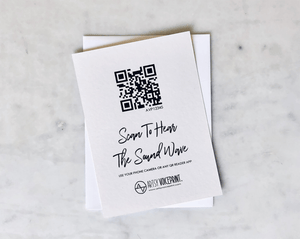 Additional or Replacement QR Code Card for Your Sound Wave Art