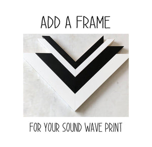 Add a Frame for Your Sound Wave Print - Artsy Voiceprint