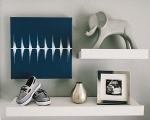Baby Heartbeat Square Canvas - Modern Nursery Wall Art