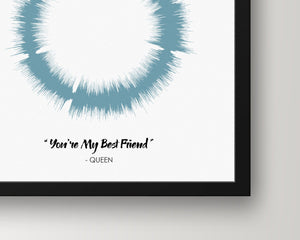 Song Sound Wave Art Personalized Gift