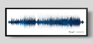 Galaxy Night Sky Song Sound Wave Print