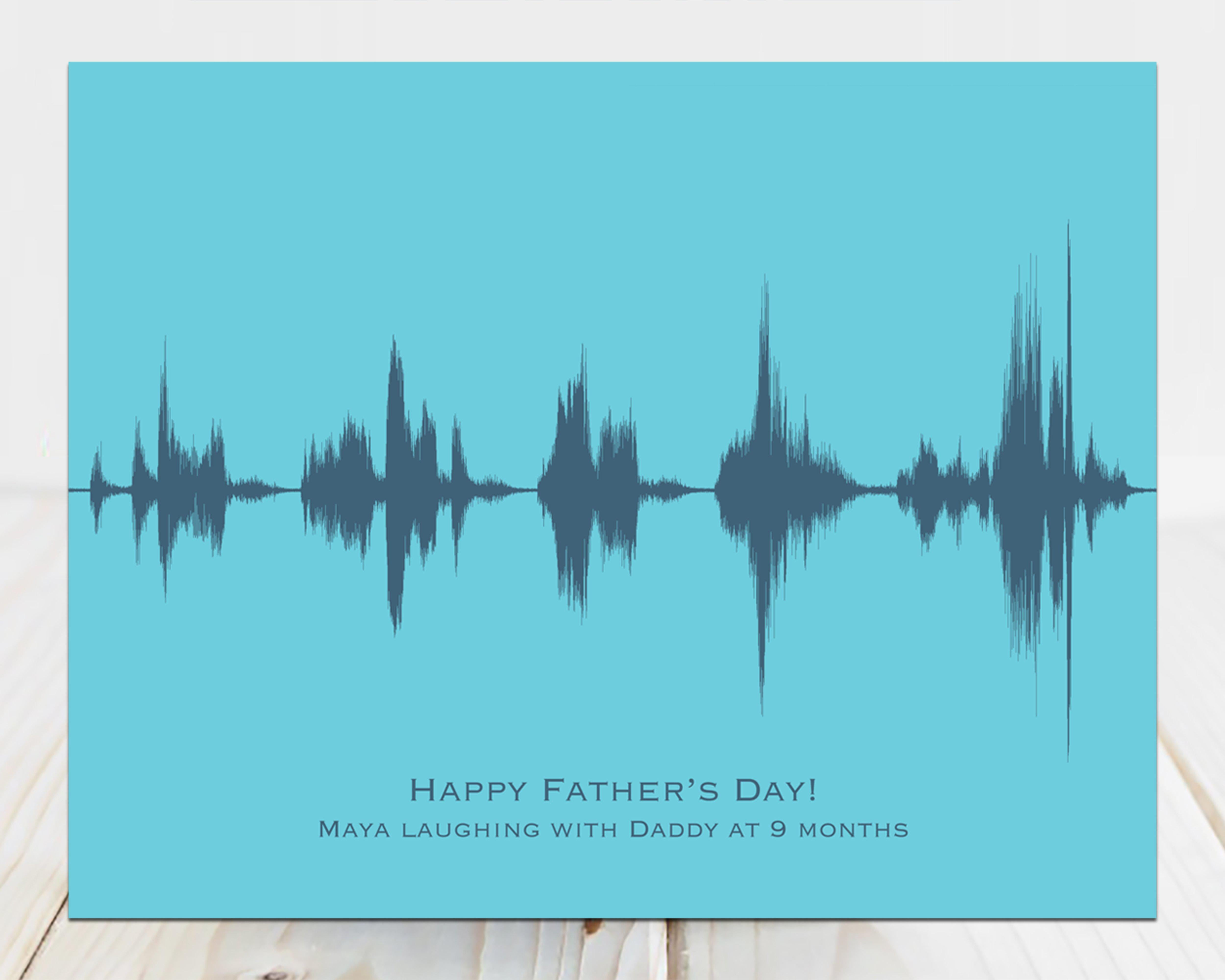 Personalized Fathers Day Gift, Child Laughing with Daddy - Artsy Voiceprint