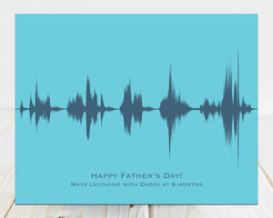 Personalized Fathers Day Gift, Child Laughing with Daddy