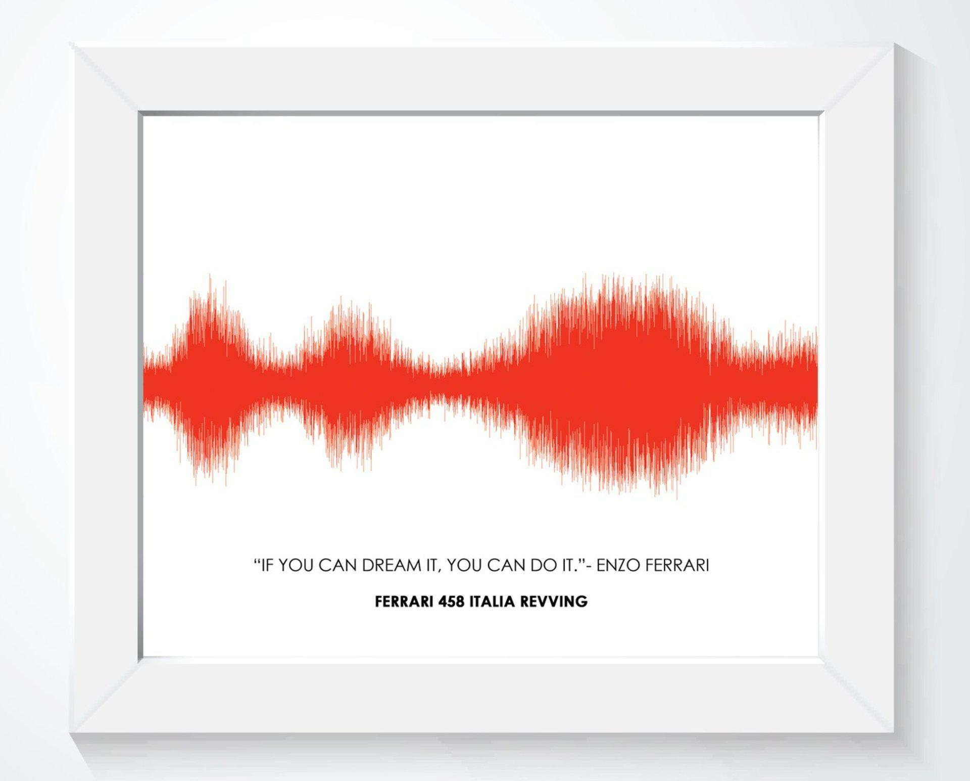 Car Engine Sound Wave Wall Art, Motorcycle / Car Lover Gifts - Artsy Voiceprint