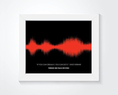 Car Engine Sound Wave Wall Art, Motorcycle / Car Lover Gifts