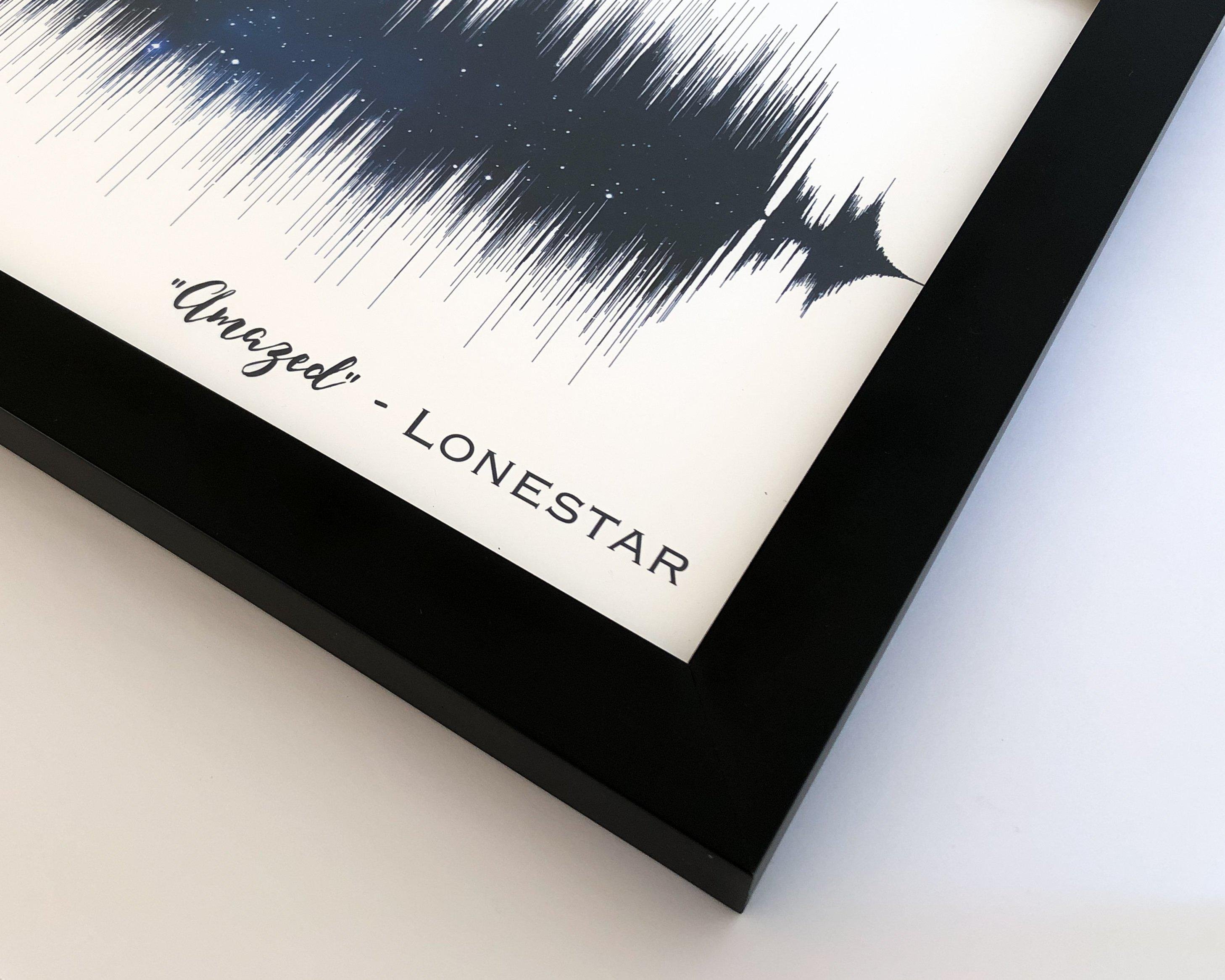 Song Sound Wave Art Framed Soundwave Art Guitar Player Gift Musician Gifts - Artsy Voiceprint