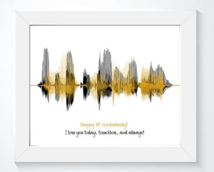 Happy 1st Anniversary Paper Gift Personalized Voiceprint