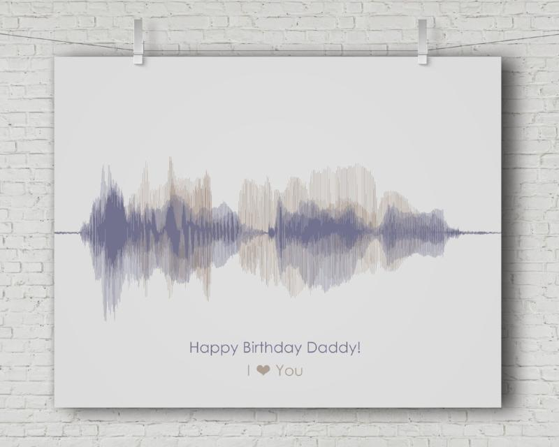 Birthday Gift for Dad - Personalized Voice Message - Artsy Voiceprint
