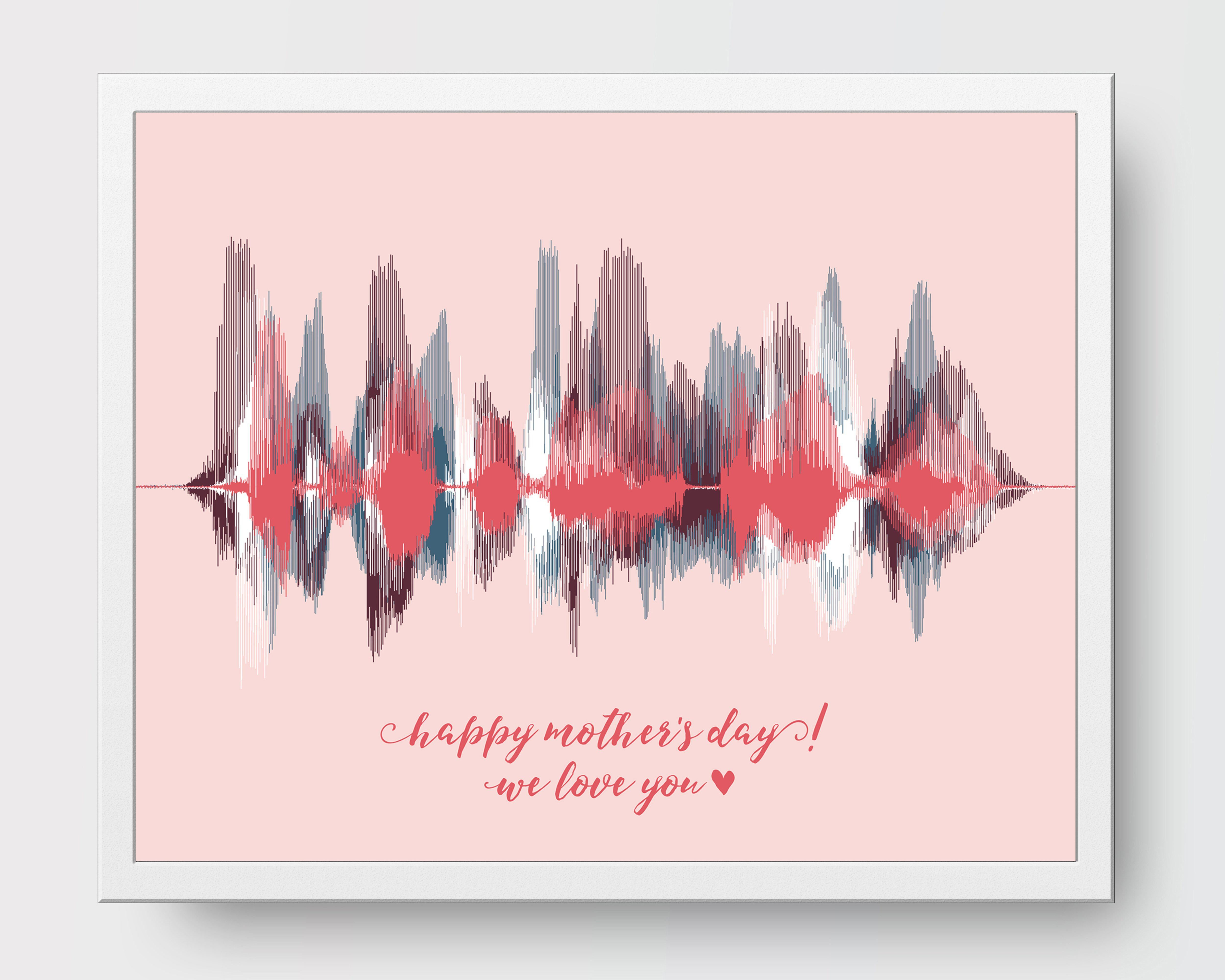 "Mothers Day Gift - ""We Love You"" from Kids - Artsy Voiceprint"