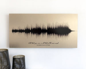 Gold Anniversary Gift - Wedding Song, Metal Print
