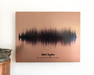Copper 7 Year Anniversary Gift - Wedding Song, Metal Print