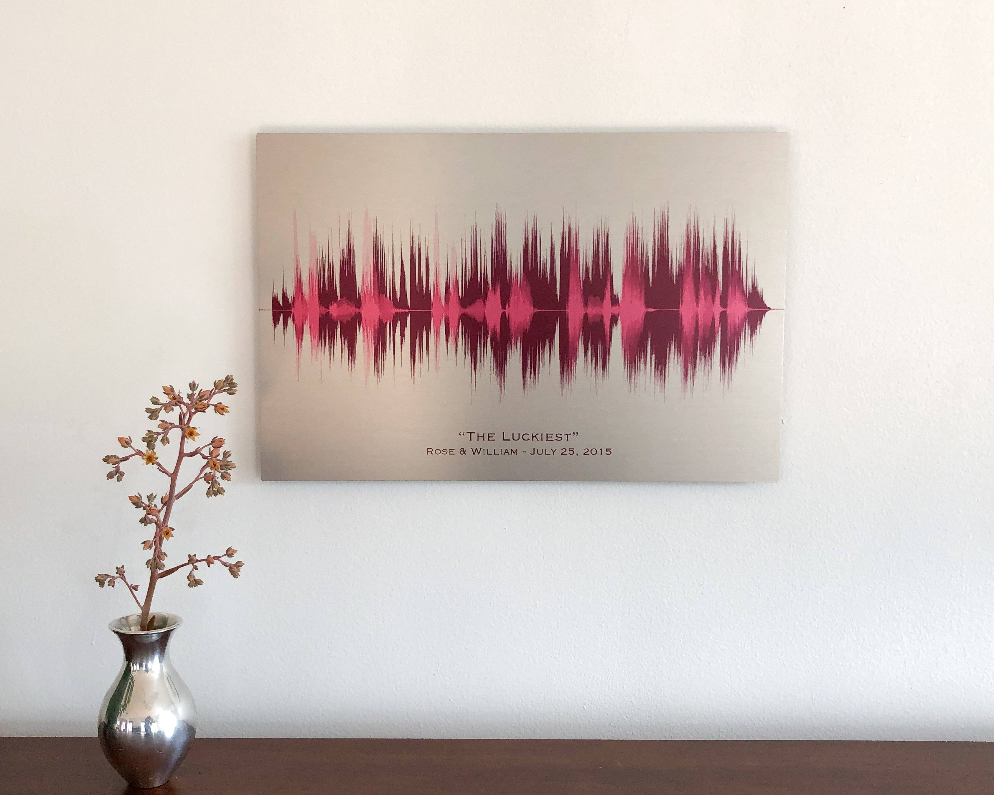 10th Year Anniversary Meaningful Gifts, Voice Art and Song - Artsy Voiceprint