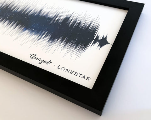 Night Sky Print Song Sound Wave Art - Artsy Voiceprint