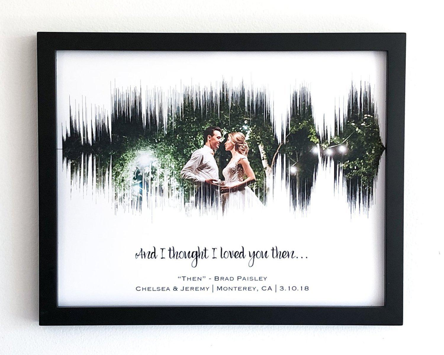 Photo & Song - 1st Anniversary Paper Gift - Artsy Voiceprint