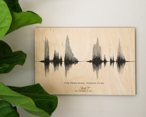 Anniversary Gift Ideas - Voiceprint, Wedding Vow, Song - Paper ...