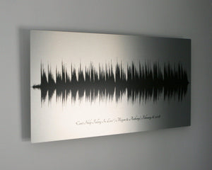 Metal Soundwave Art Personalized Gift for Him