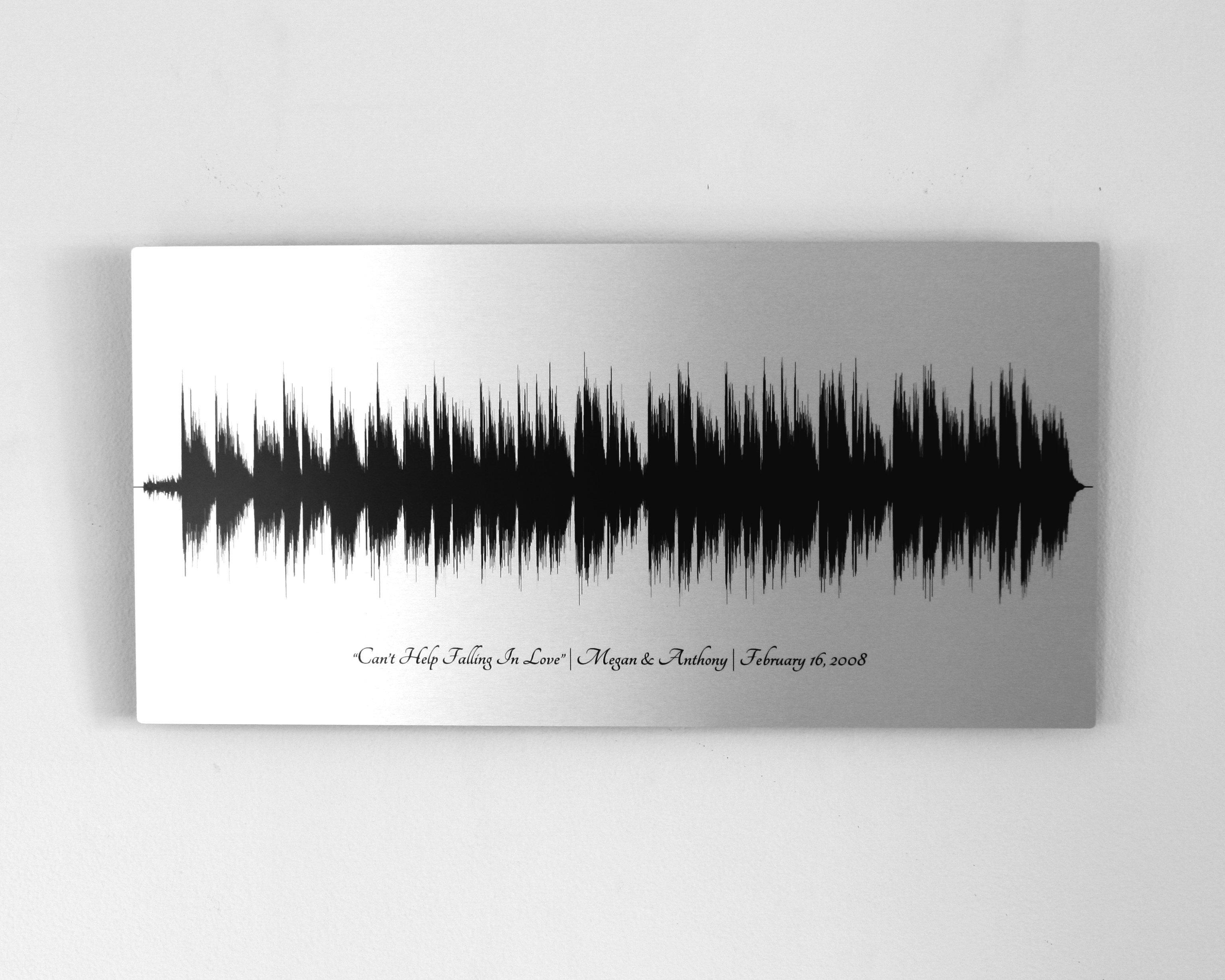 10 Year Anniversary Gifts Tin Aluminum Metal Print Sound
